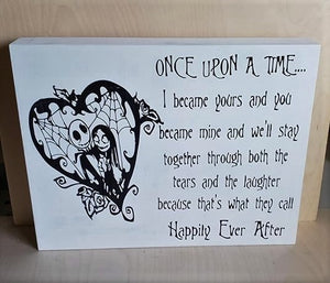 Jack Skellington, Jack and Sally, Once upon a time, Happily ever after