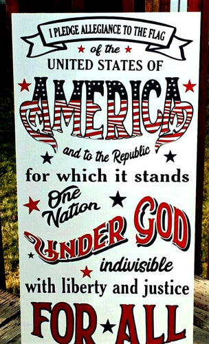 I Pledge Allegiance to the Flag, home decor, U.S.A., United States of America, Proud to be American