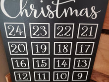 Load image into Gallery viewer, Christmas Chalkboard countdown, Christmas countdown, Sleeps Till Christmas, Christmas decor