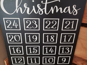 Christmas Chalkboard countdown, Christmas countdown, Sleeps Till Christmas, Christmas decor