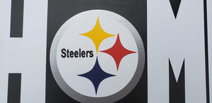 Pittsburgh Steelers wood sign, Steelers Home sign, Steelers decor