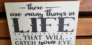 Many things in life that will catch your eye but only a few will capture your heart pursue those
