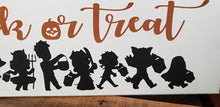 Load image into Gallery viewer, Trick or Treat, Halloween decor, hand painted wood sign
