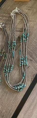 "Authentic Turquoise 30"" Necklace"