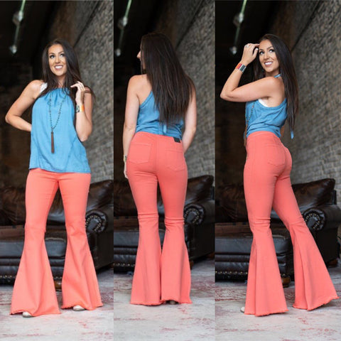Extreme Flare Coral Jeans