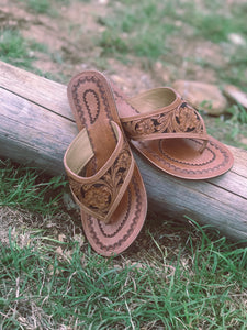Tooled Leather Sandal