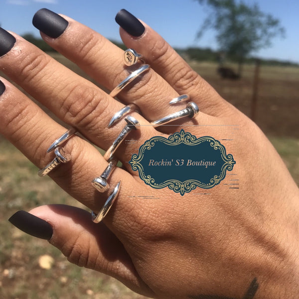 Sterling Silver Nail Ring