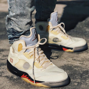 How To Spot Fake Jordan 5 Retro Off-White Sail
