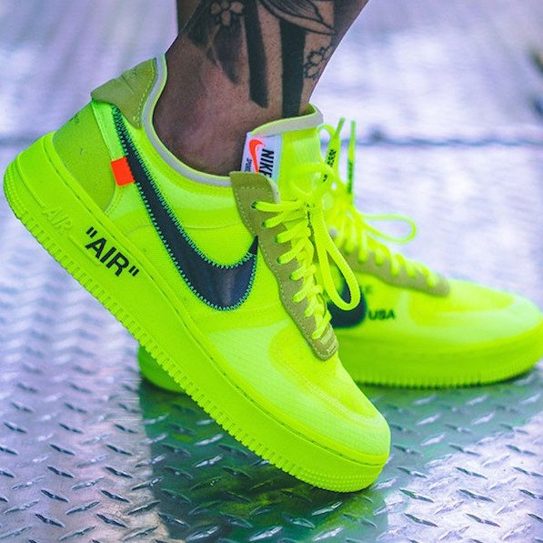 How to spot fake Off White Air Force 1 Low Nike Volt | Air Force 1 Low Off White Volt Fake vs Real