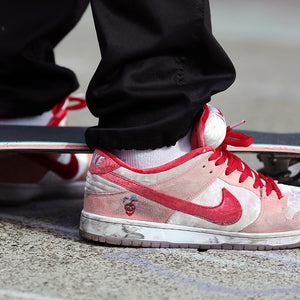 How to spot Fake Strangelove Skateboards x Nike SB Dunk Low