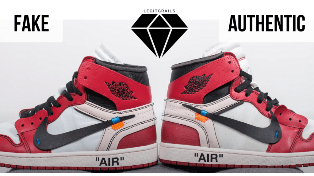 How to Spot Fake Off White Jordan 1 Chicago: The Height of the Heel Method