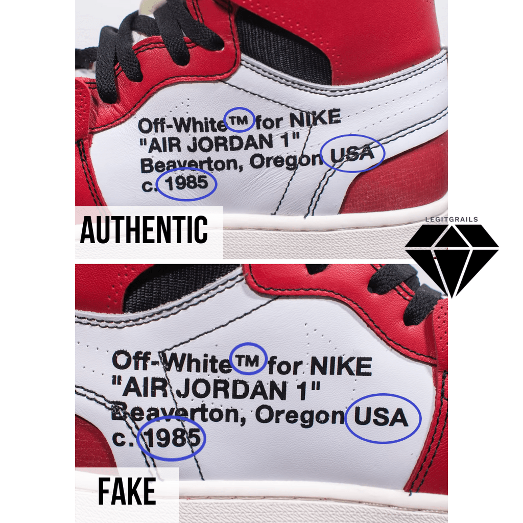 How To Spot Fake Off White Jordan 1 Chicago – LegitGrails