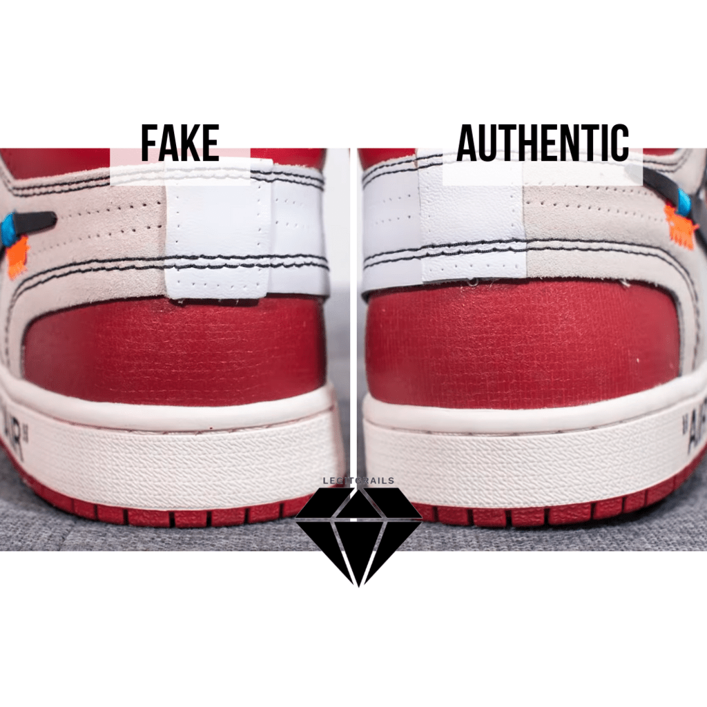 How to Spot Fake Off White Jordan 1 Chicago: The Deconstructed Heel Method