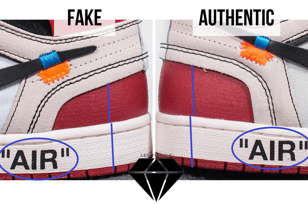 "How to Spot Fake Off White Jordan 1 Chicago: The ""Air"" Text Method"