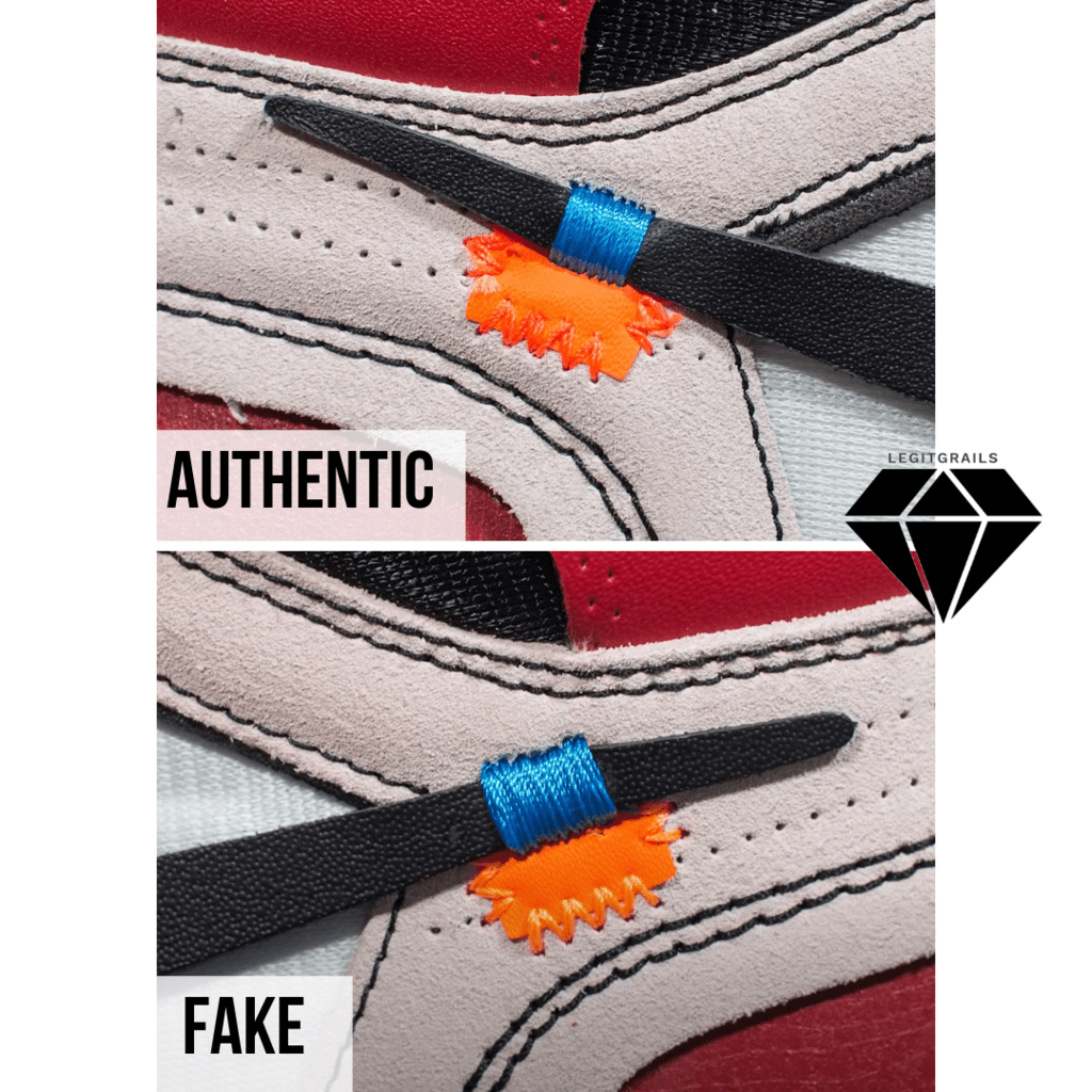 How to Spot Fake Off White Jordan 1 Chicago: The Orange Tab Method