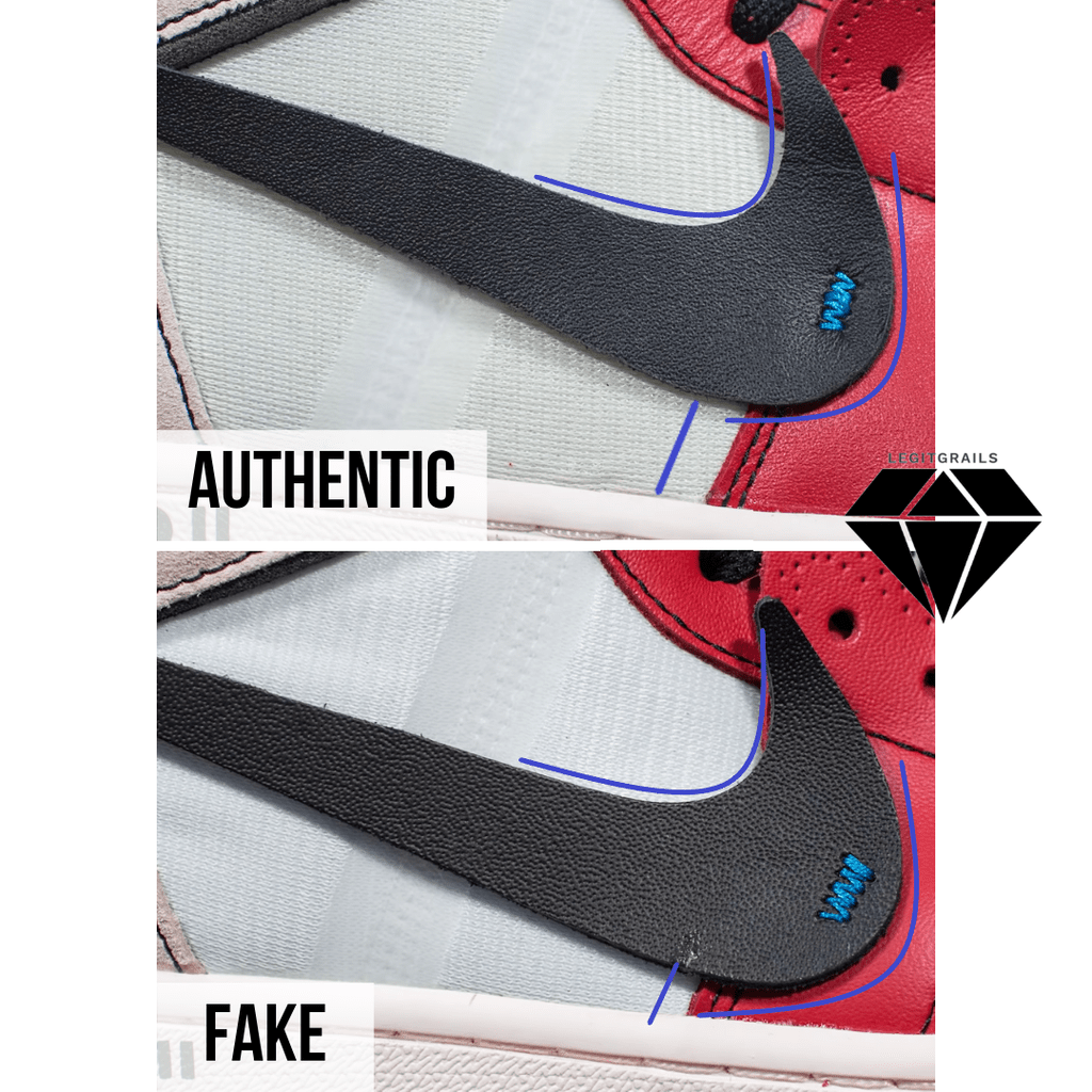 How to Spot Fake Off White Jordan 1 Chicago: The Nike Swoosh Method