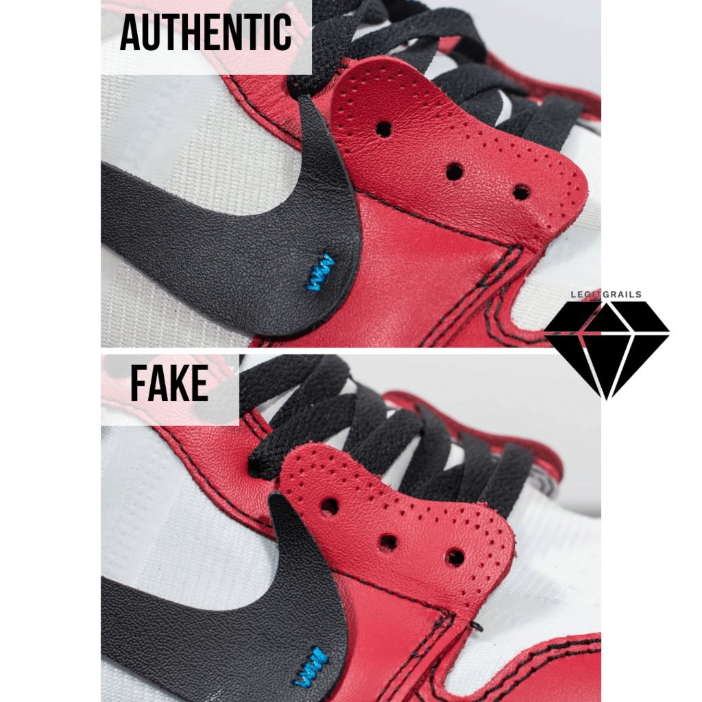 How to Spot Fake Off White Jordan 1 Chicago: The Leather Thickness Method