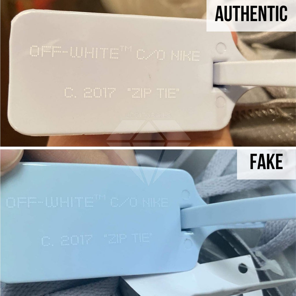 How to Spot Fake Air Max Off-White 97 Menta: The Off-White Zip Tie Method
