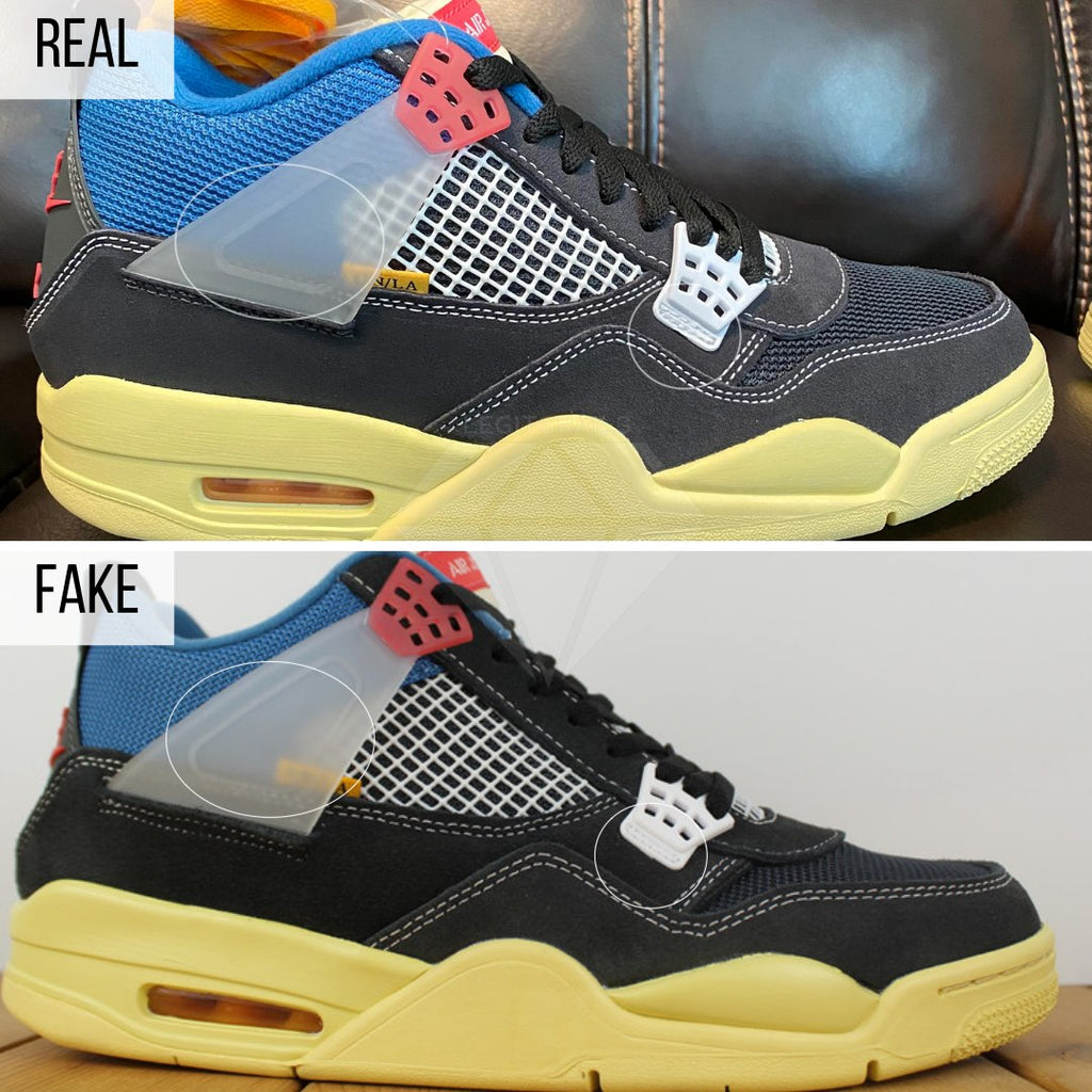 Jordan 4 Union Off Noir Fake VS Real Guide: The Overall Shape Method