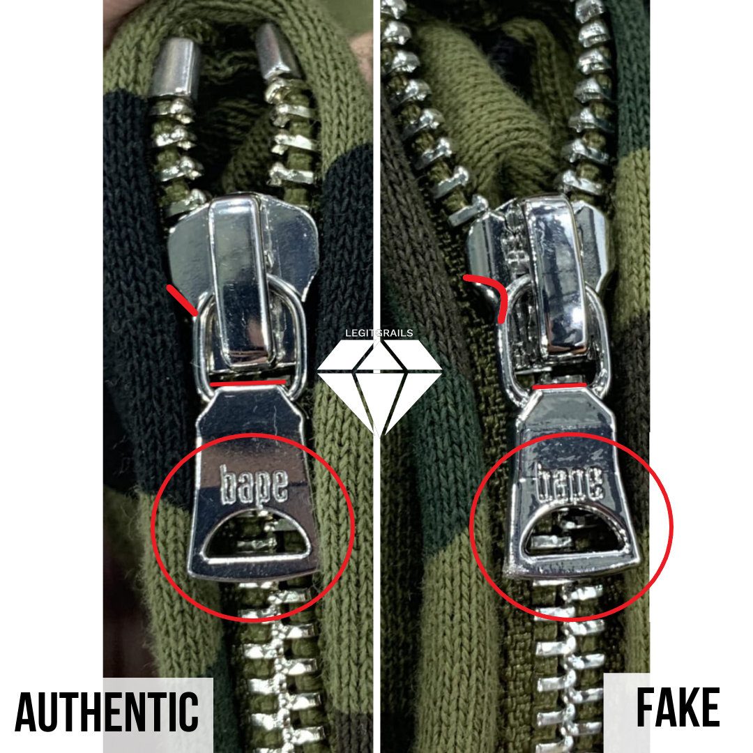 How to spot a fake Bape Shark hoodie | Bape Zipper real vs fake