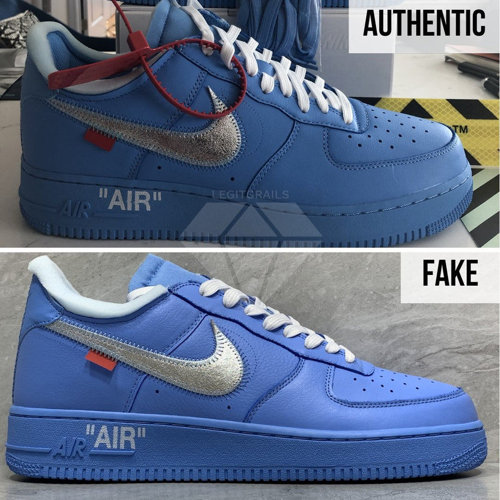 Nike Air Force 1 Off-White MCA Real VS Fake Guide: The Overall Shape Method