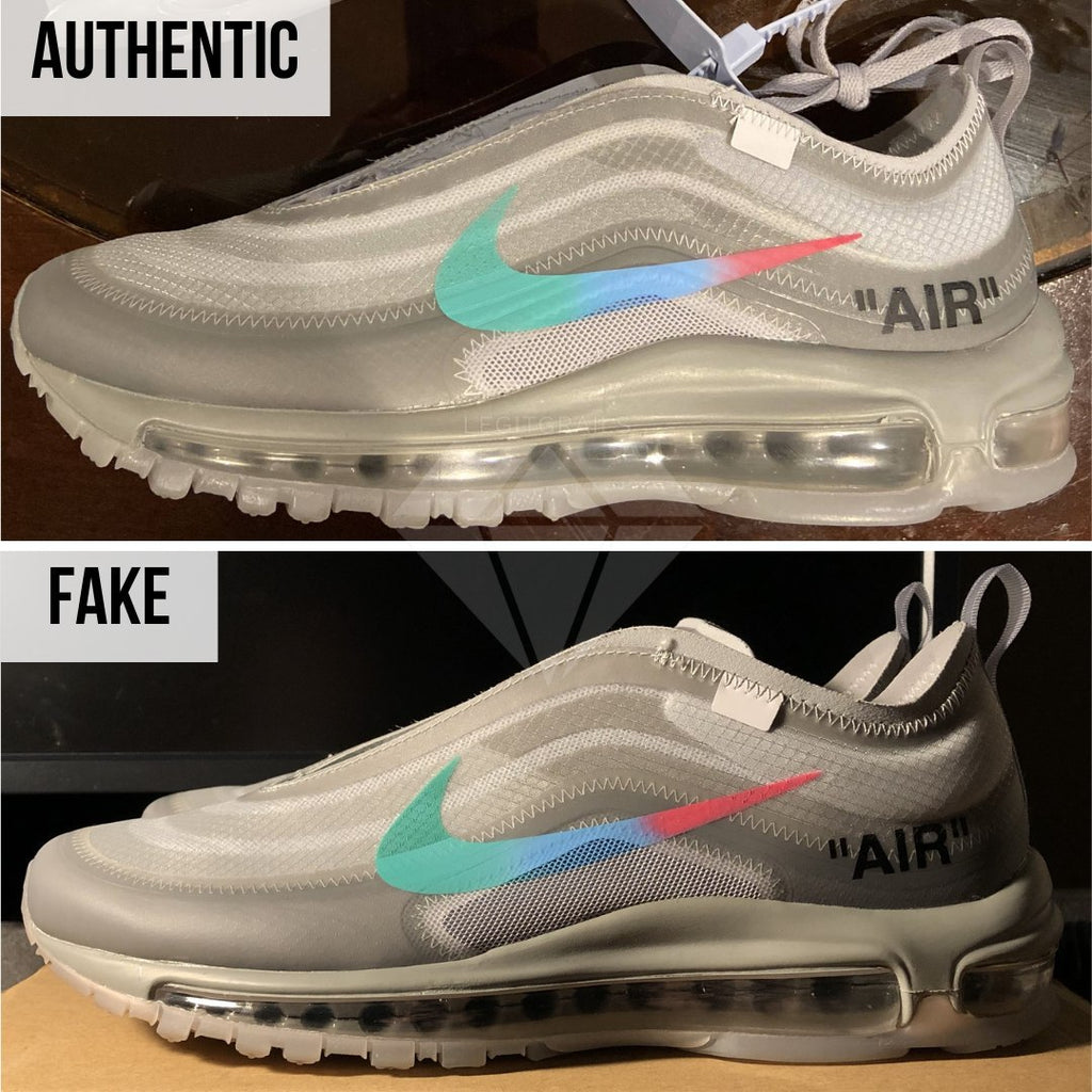 How to Spot Fake Air Max Off-White 97 Menta: The Overall Shape Method