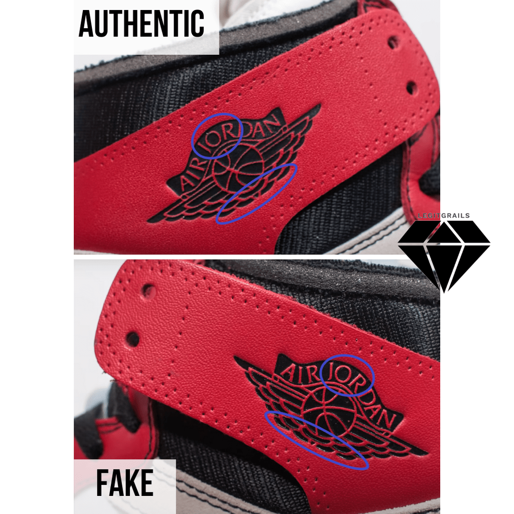 How to Spot Fake Off White Jordan 1 Chicago: The Air Jordan Logo Method