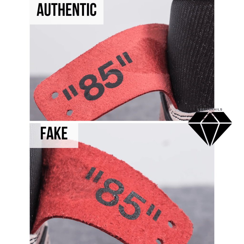 "How to Spot Fake Off White Jordan 1 Chicago: The ""85"" Flap Method"