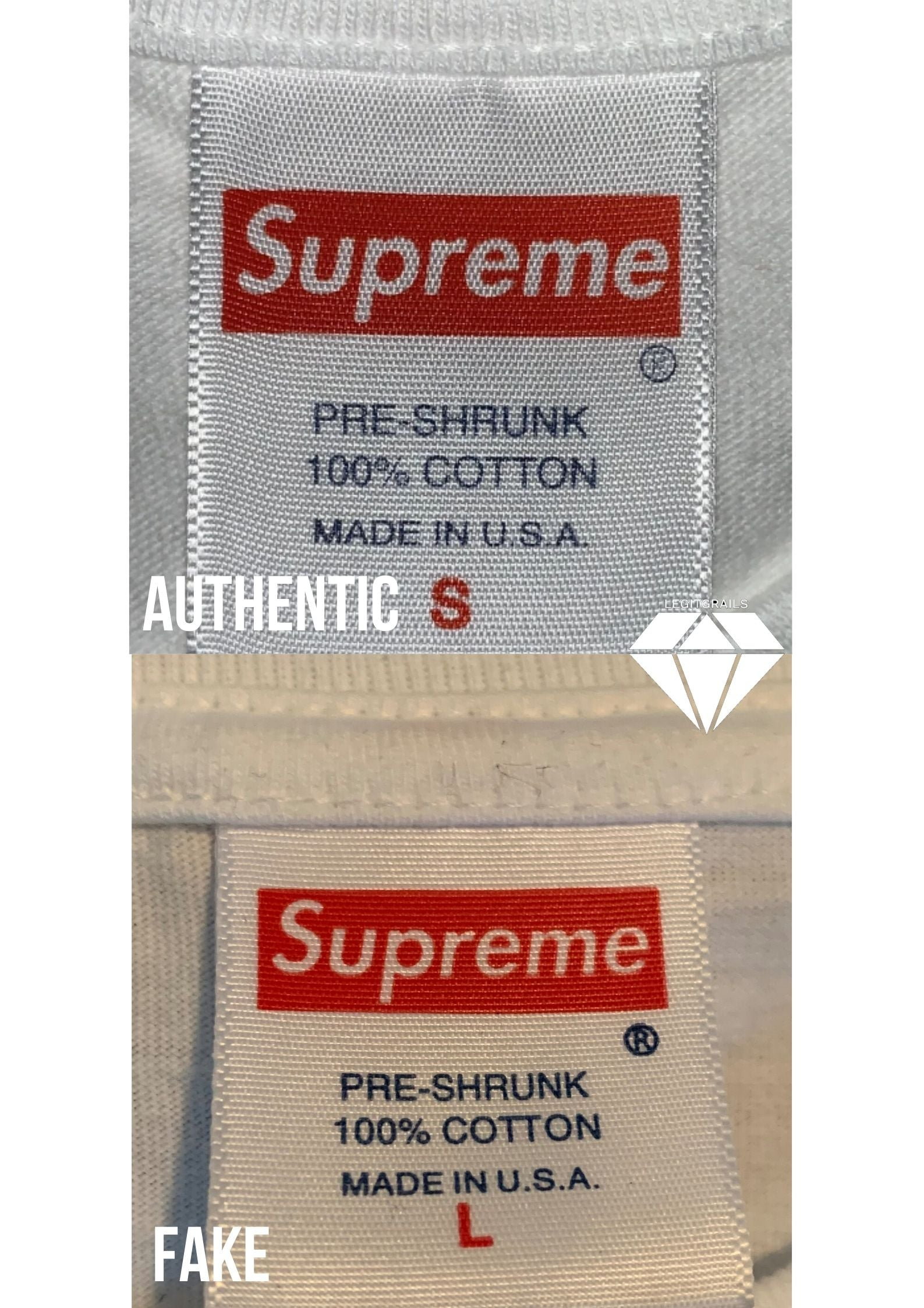 Supreme Swarovski Neck Tag Real vs Fake | Supreme Legit Check