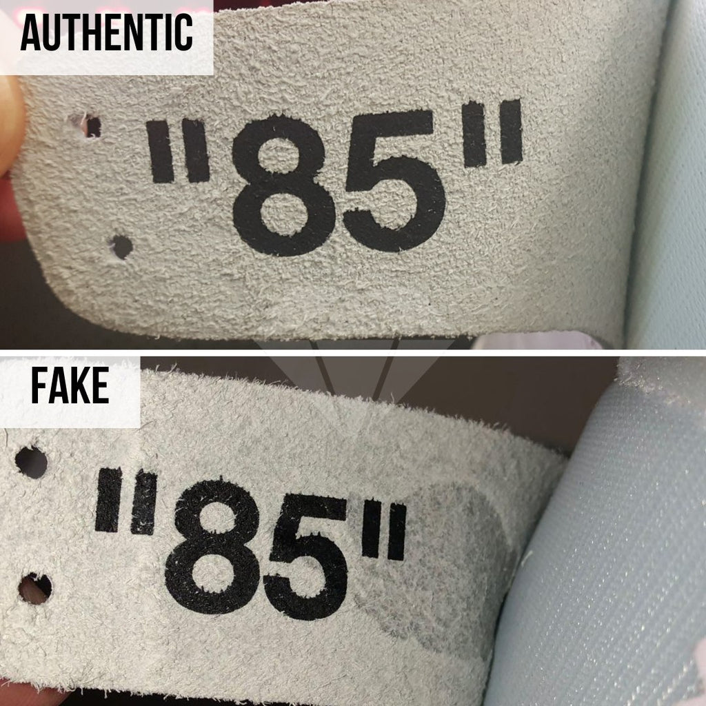 Jordan 1 Off White NRG Fake vs Real Guide: The Leather Flap Method