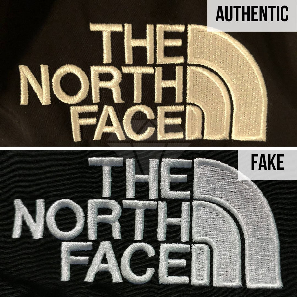 Supreme The North Face Mountain Baltoro Jacket Fake VS Real Guide: The North Face Front Tag Method