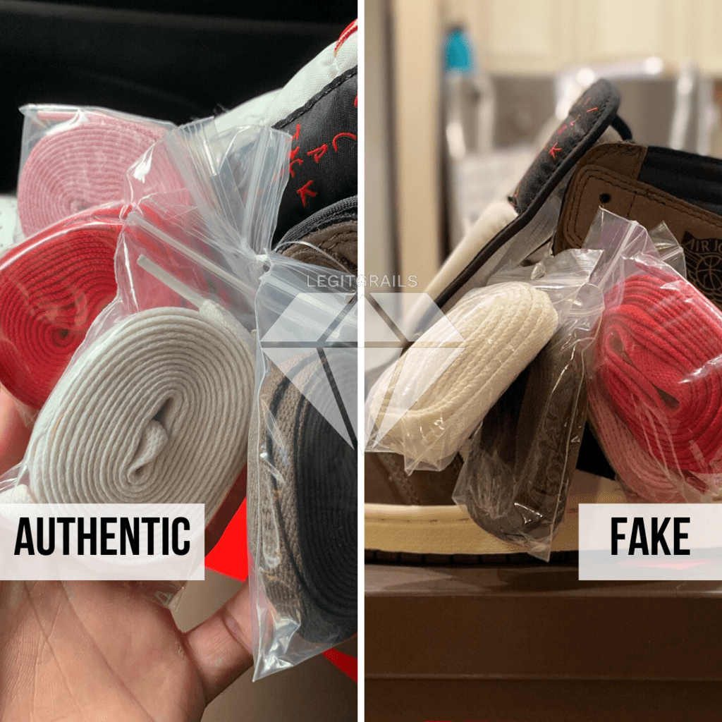 How to legit check Travis Scott Jordan 1 High: The Packaging Laces Method