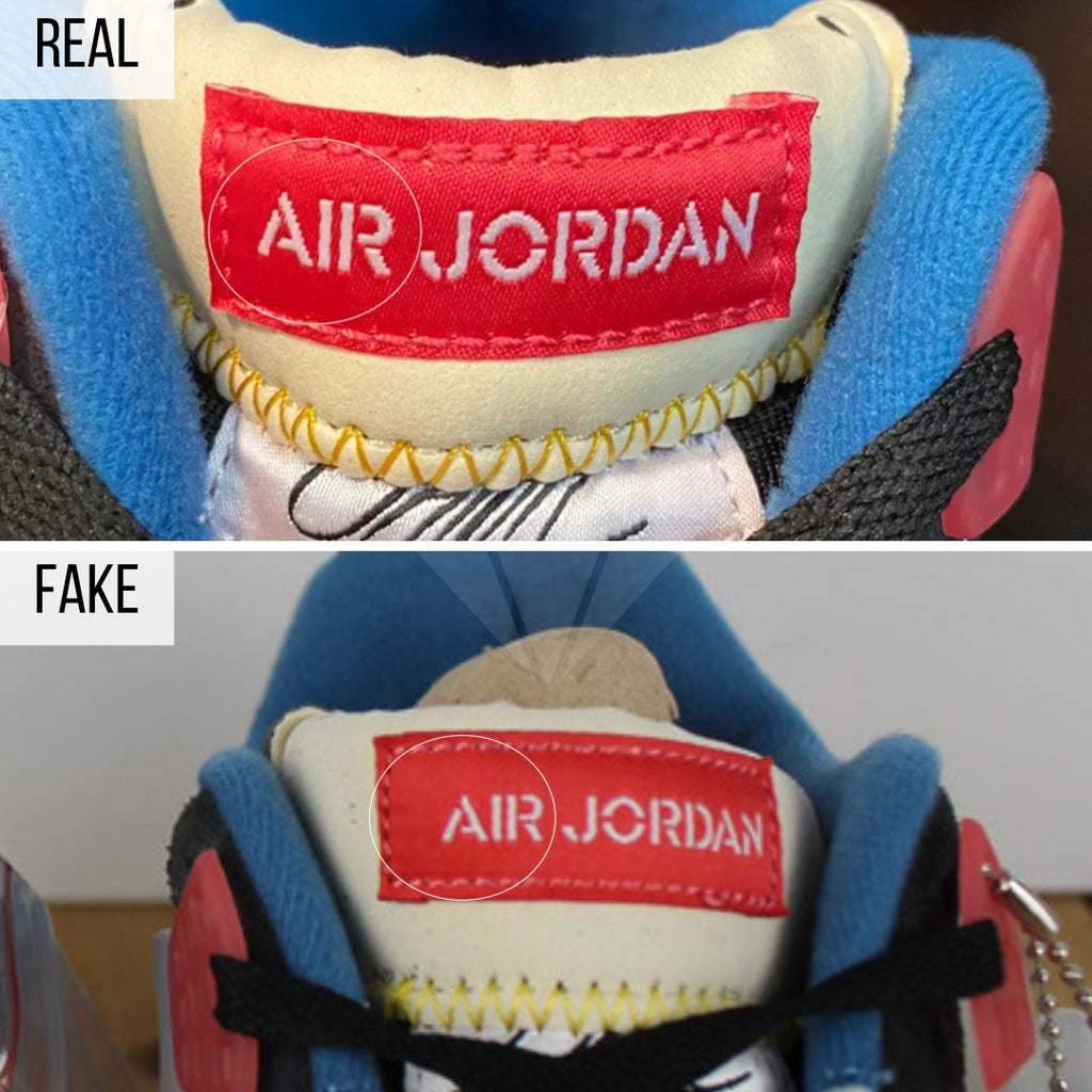 Jordan 4 Union Off Noir Fake VS Real Guide: The Tongue Tag Method