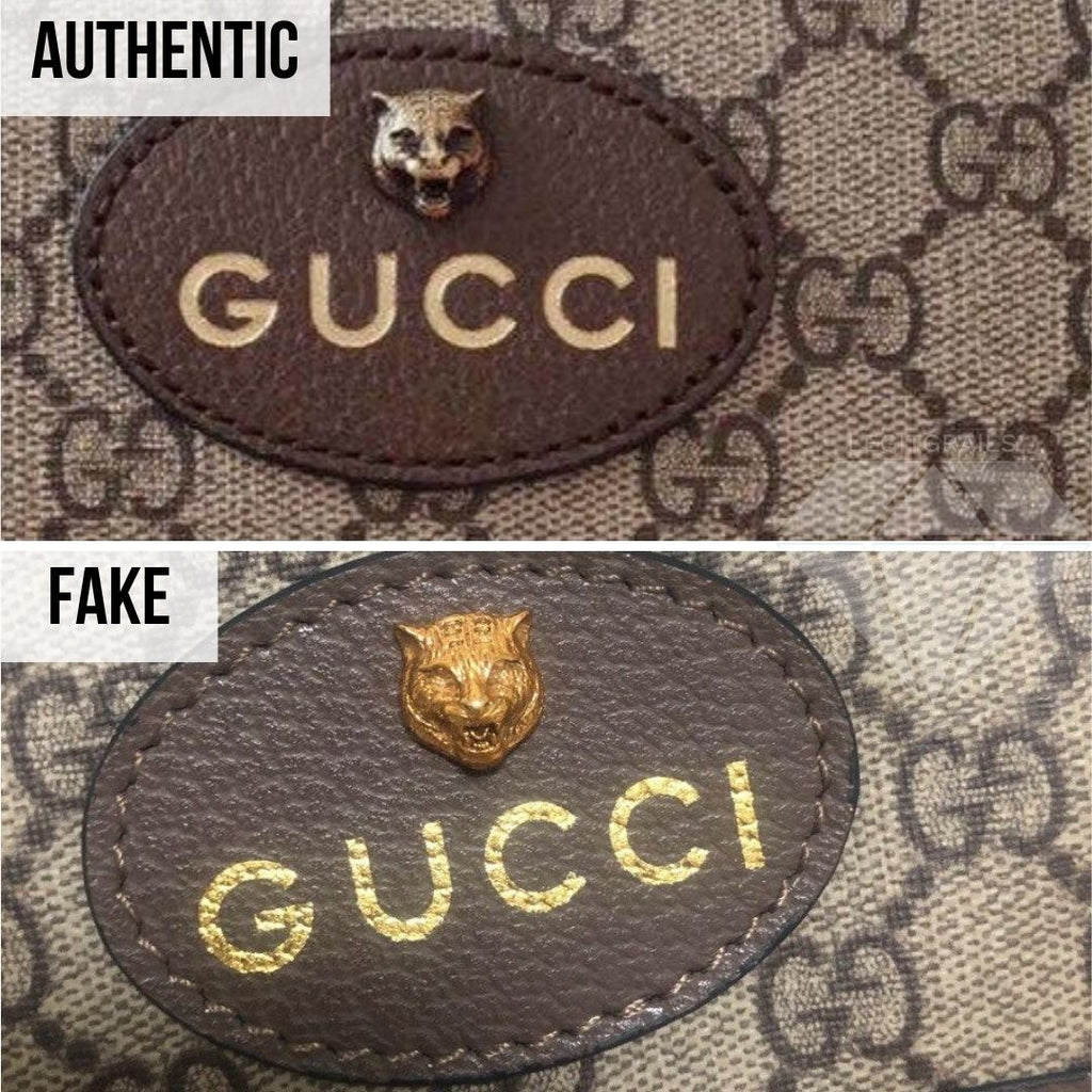 How to authenticate your Gucci bag: Close up Gucci logo