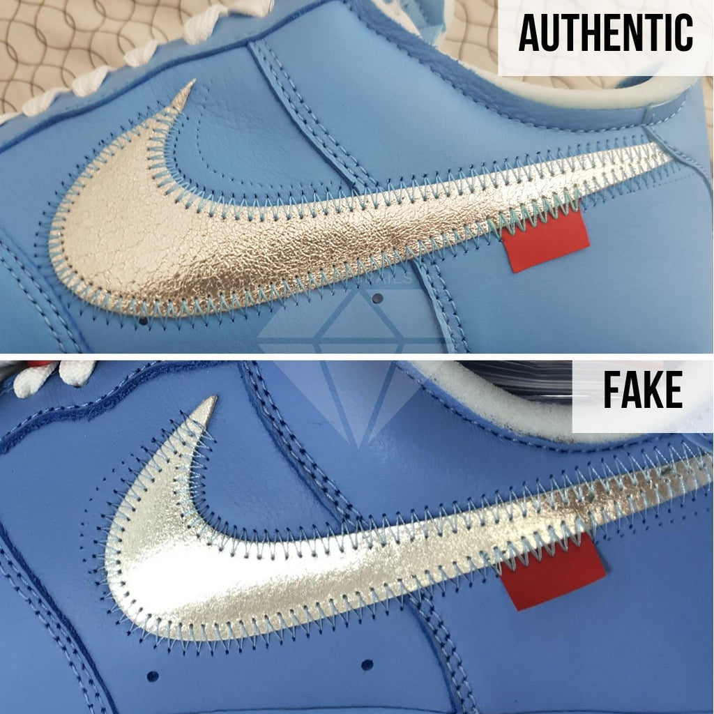 Nike Air Force 1 Off-White MCA Real VS Fake Guide: The Outer Swoosh Method