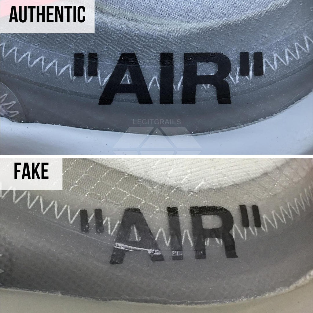 How to Spot Fake Air Max Off-White 97 Menta: The Air Midsole Print Method