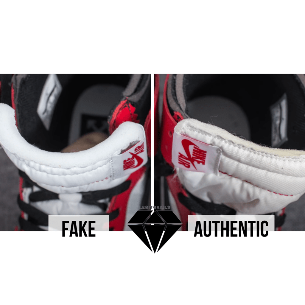 How to Spot Fake Off White Jordan 1 Chicago: The Tongue Foam Method