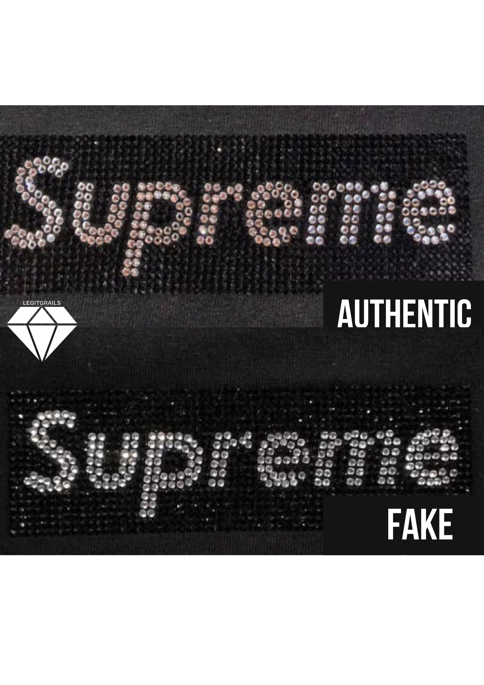 Supreme Swarovski Box Logo T Shirt Real vs Fake | Supreme Legit Check