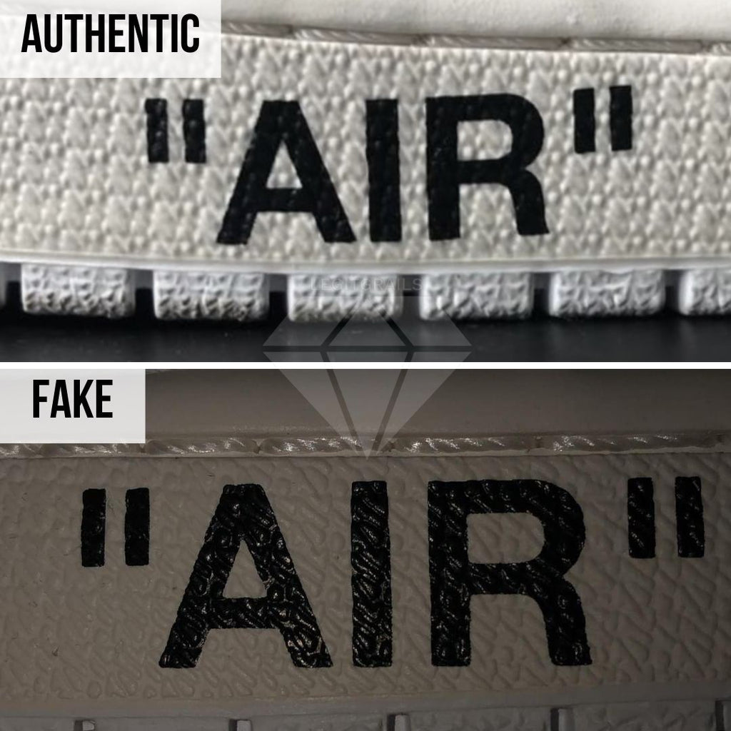 Jordan 1 Off White NRG Fake vs Real Guide: The Midsole Print Method