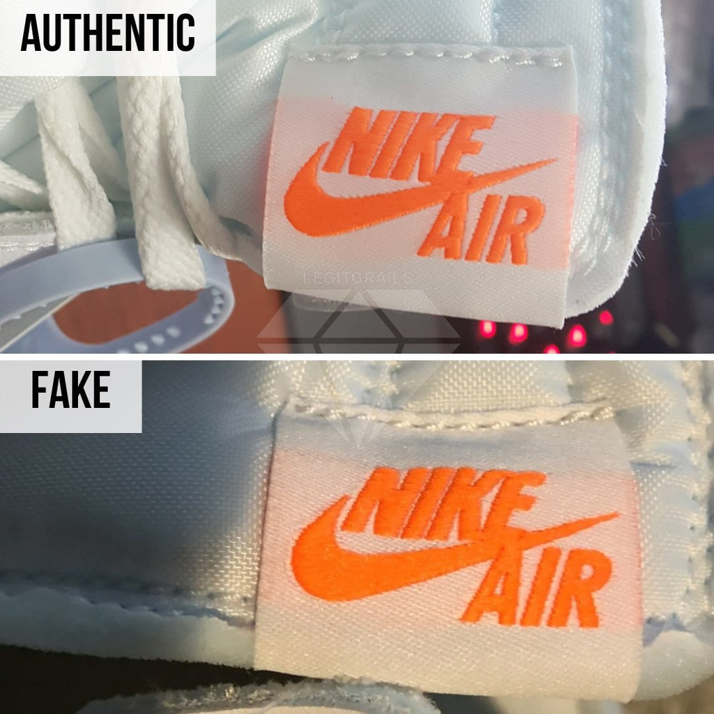 Jordan 1 Off White NRG Fake vs Real Guide: The Side Tongue Label Method