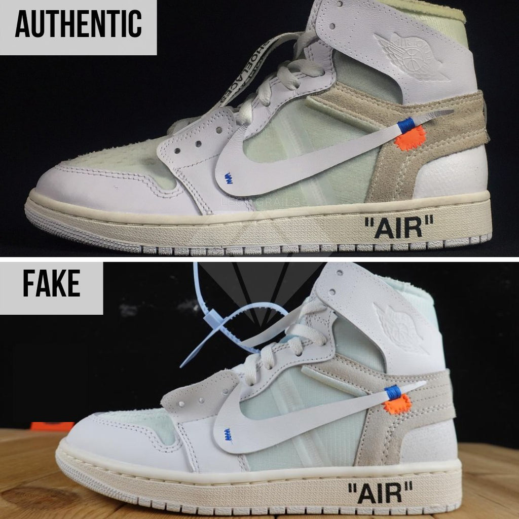 Jordan 1 Off White NRG Fake vs Real Guide: The Overall Shape Method