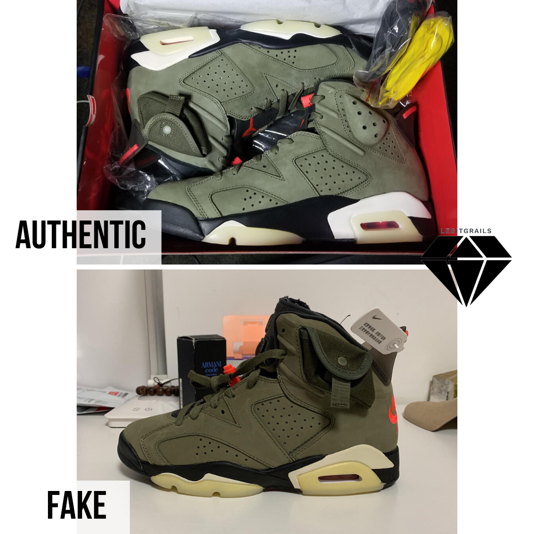 How to Spot a Fake Travis Scott x Air Jordan 6 | Jordan 6 Real vs Fake