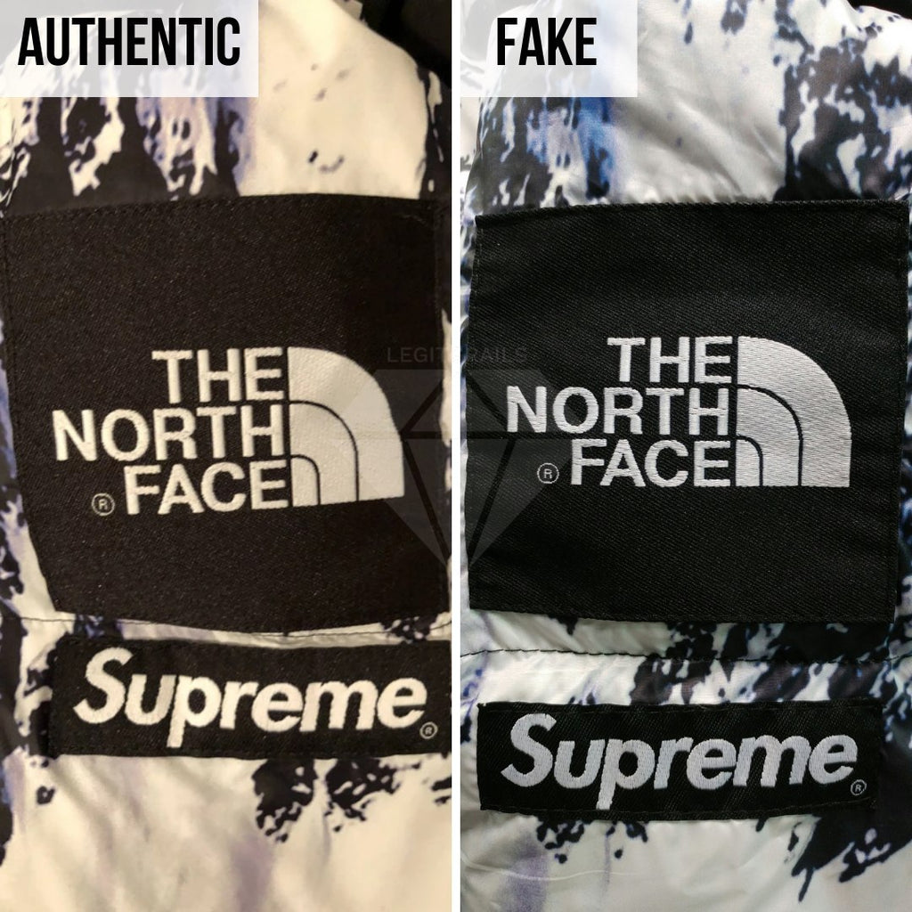 Supreme The North Face Mountain Baltoro Jacket Fake VS Real Guide: The Arm Tag Method