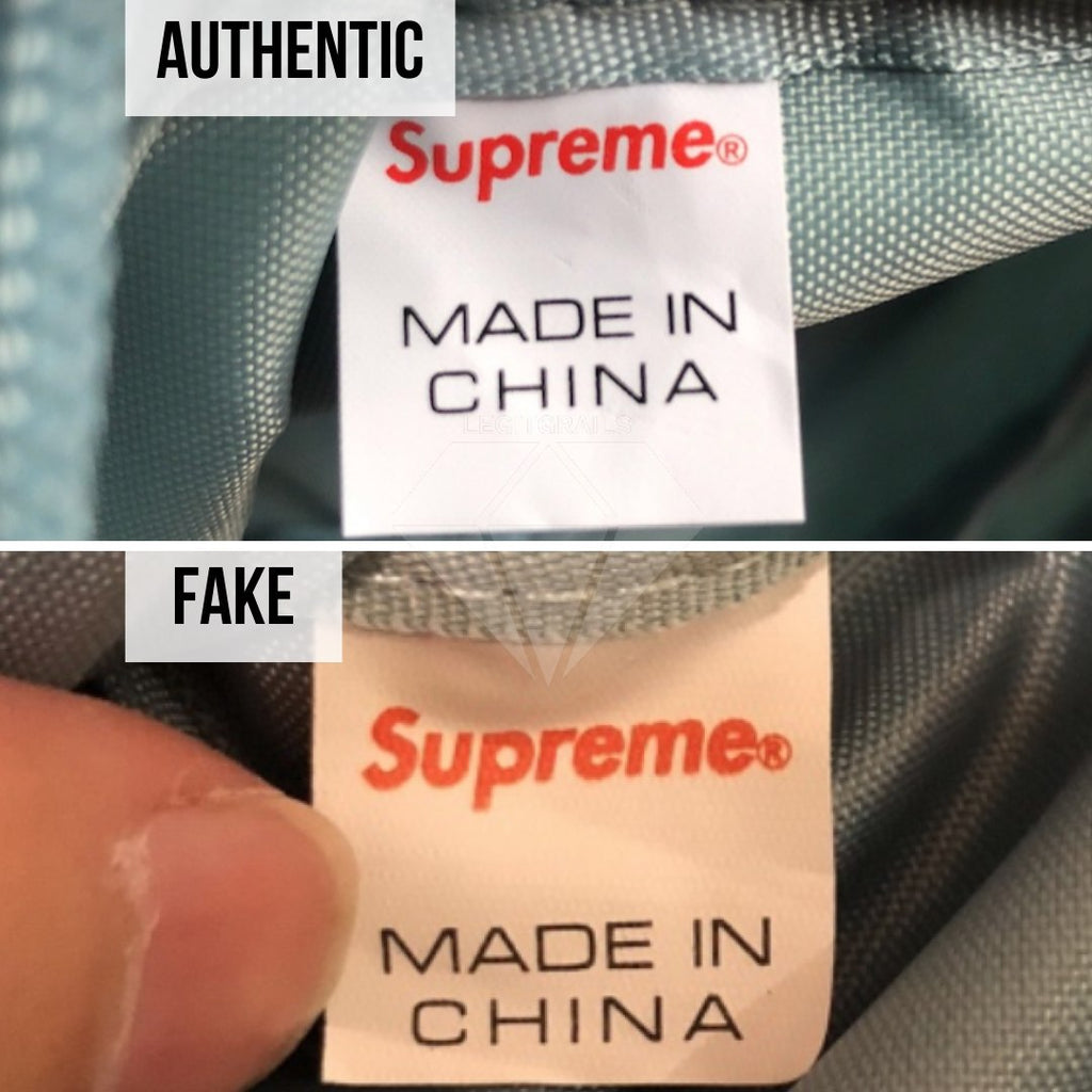 Supreme SS19 Shoulder Bag Legit Check Guide: The Supreme Made In China Inside Tag Method