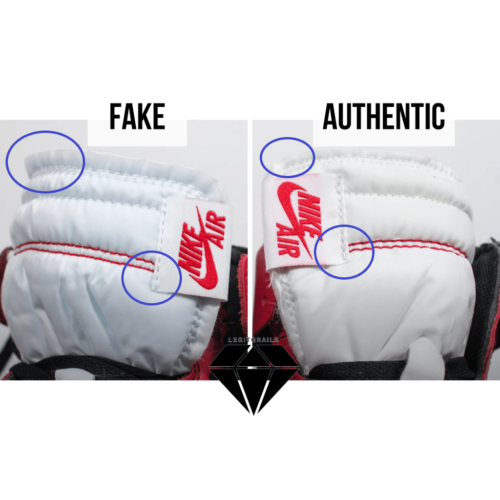 How to Spot Fake Off White Jordan 1 Chicago: The Front Side Tongue Method