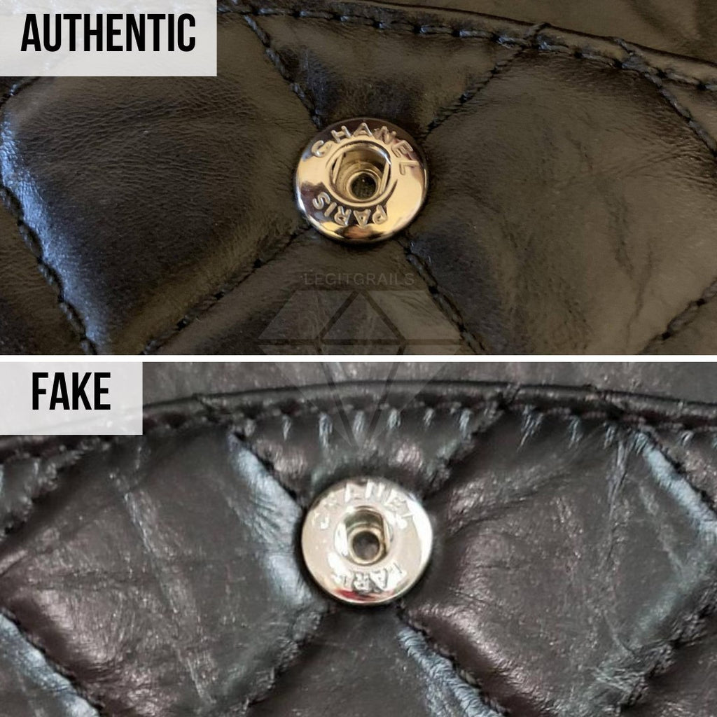 Chanel 2.55 Bag Authentication Guide: The Metal Snap Button Method