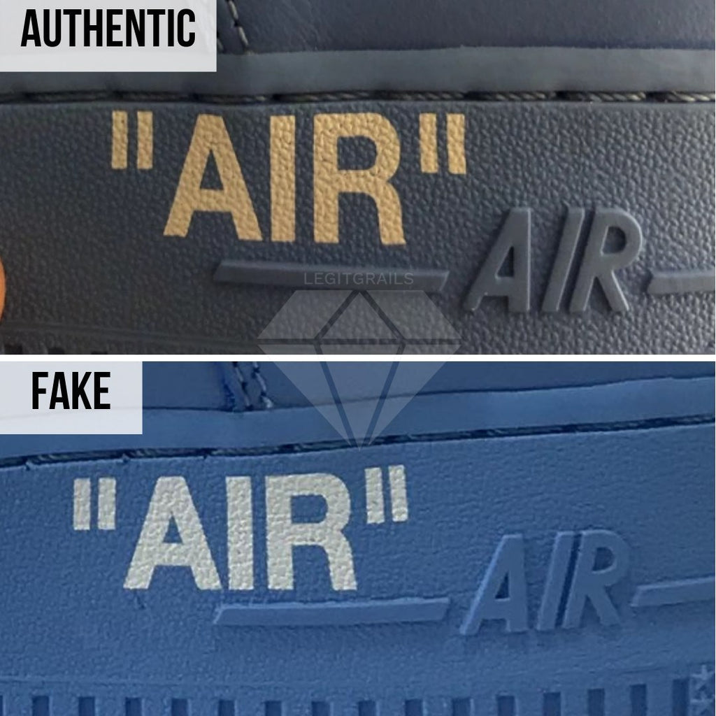 Nike Air Force 1 Off-White MCA Real VS Fake Guide: The Air Midsole Print Method