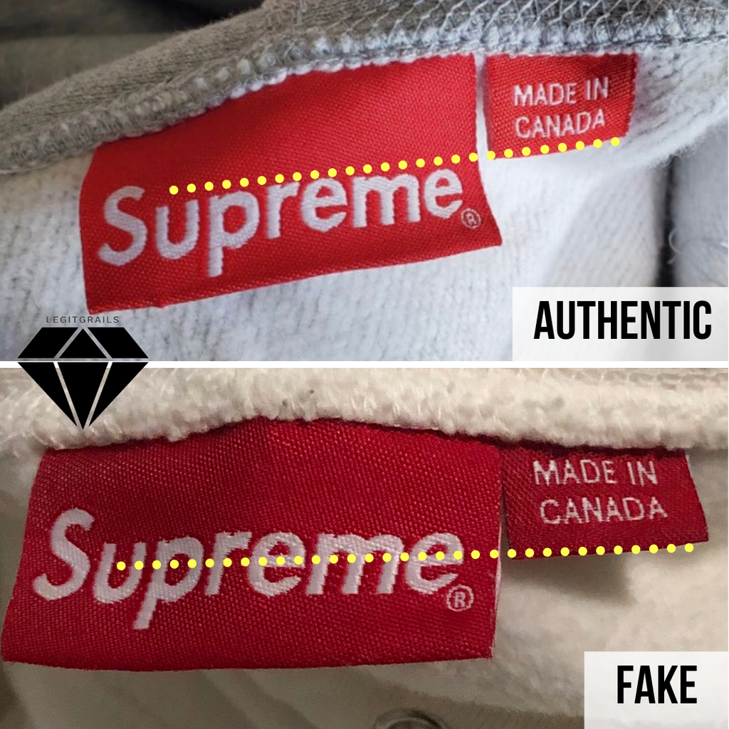 How to spot fake Supreme Box Logo hoodie: the neck tag method