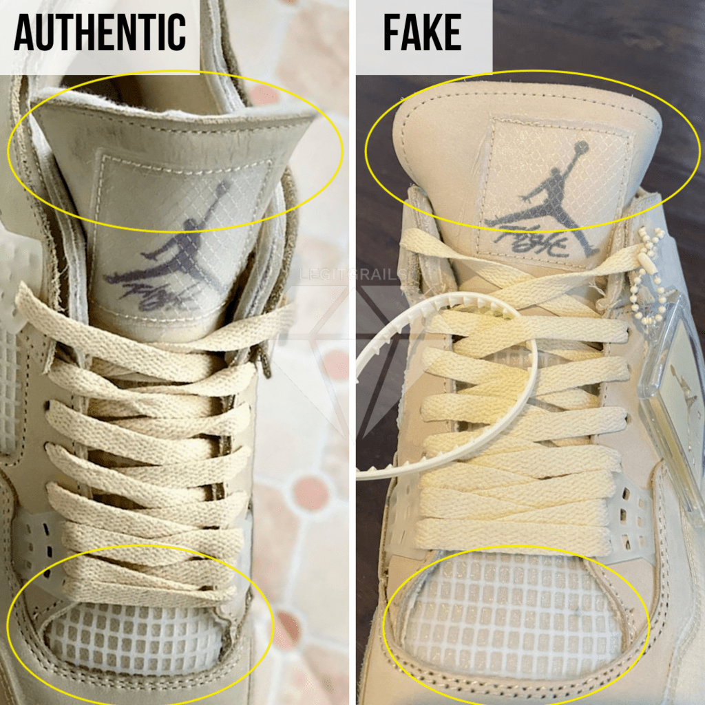 How To Legit Check Off-White Jordan 4 Sail: The Front Side Method