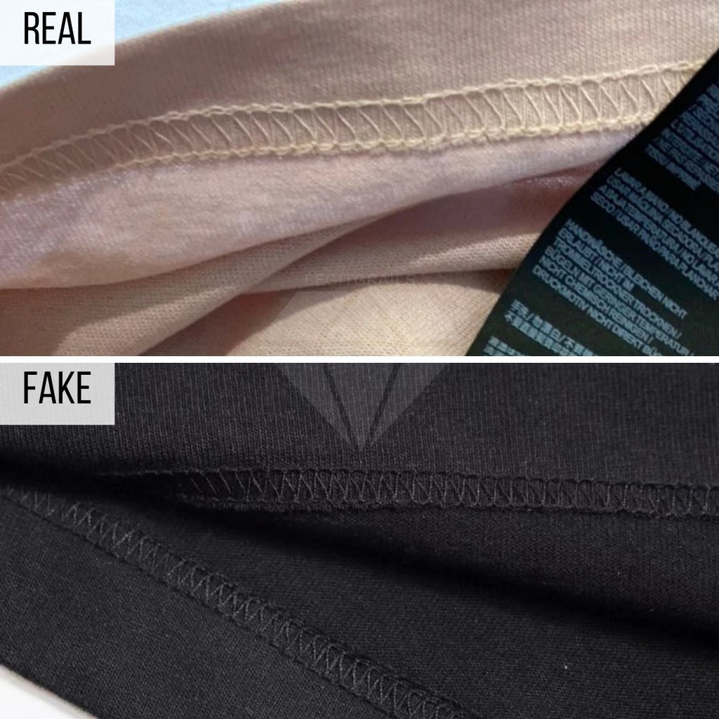 Palm Angels Kill The Bear T-Shirt Real VS Fake Guide: The Stitching Method